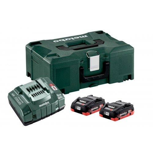 Bộ 2 Pin Sạc Metabo BASIC SET 2 X LIHD 4.0 AH + METALOC