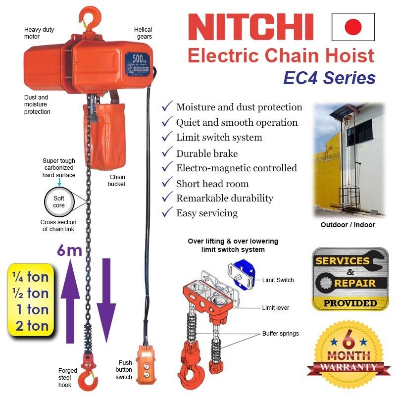 palang xích điện nitchi nhật bản an toàn khi sử dụng